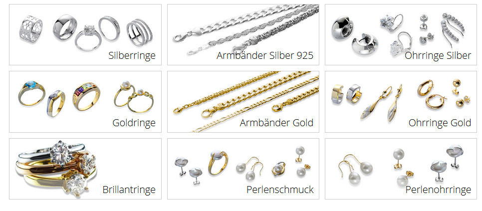 Goldschmuck online kaufen  Schmuck Online Shop - Goldringe