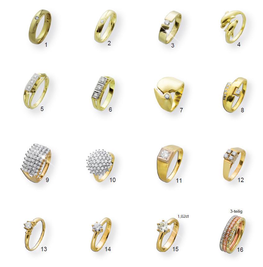 Goldringe mit Diamanten