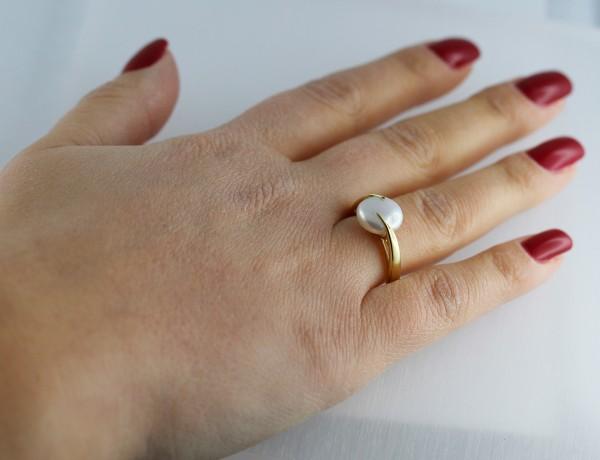 Ring Gelbgold 333 Biwazuchtperle