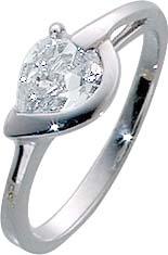 Weissgoldring in echtem poliertem Weißgold 333/- 1 Diamantstrahlenden weissen lupenreinen tropfenförmigen Zirkonia  ,  im wechselnden Licht funkelt er wie ein Diamant. , Solitärring .Die breite des ringes ist 2mm stärke 1,8mm der stein ist 8mm mal 5mm bre