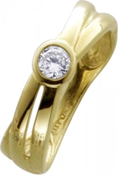 Ring in Gelbgold 333/-mit 1 Zirkonia