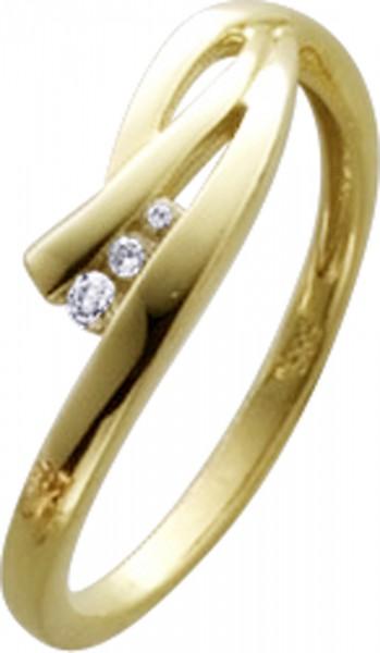 Ring in Gelbgold 333/-mit 3 Zirkonia