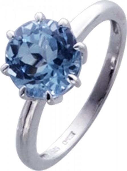 Ring in Weissgold 333/-mit Blautopas