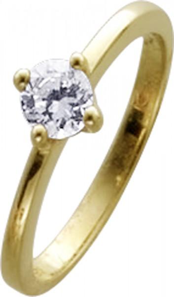 Ring in Gelbgold 333/-mit einem Zirkonia