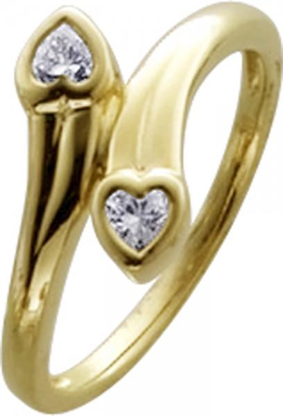 Ring in Gelbgold 333/-mit 2 Zirkonia