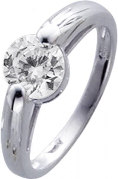 Ring in Weißgold 333/-mit Zirkonia