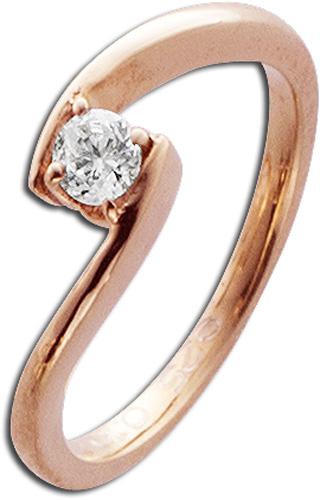 Ring in Rotgold 585/- mit 1Brillanten 0,...