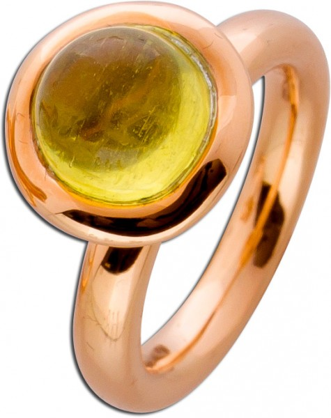 Ring Candy Rosegold 750 mit Gold Beryll ...