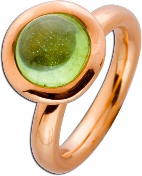 Ring  Rosegold 750 grüner Peridot Caboc...