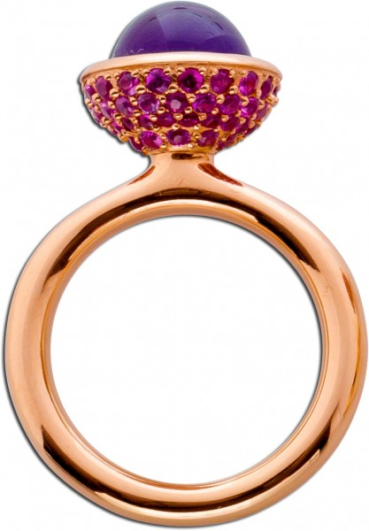 Ring Rosegold 750 mit lila Amethyst Cabo...