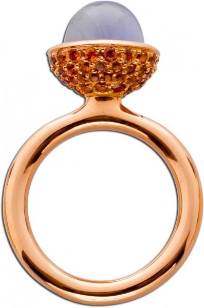 Ring Rosegold 750 blauer Iolith Cabochon...