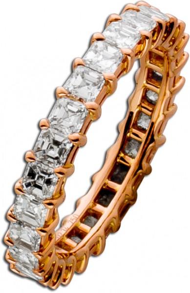 Memoirering Rosegold 750 mit Diamanten c...