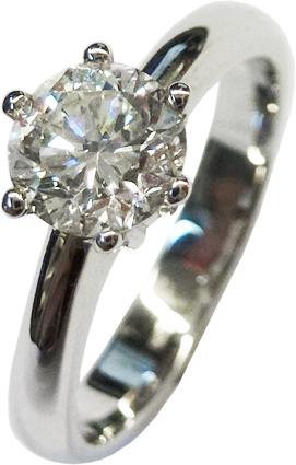 Solitär Ring Verlobungsring Weißgold 585/- 1 Brillant 0,87ct W/VVSI