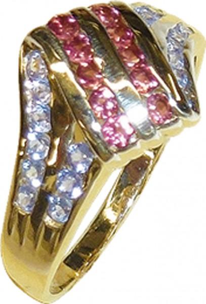 Ring in Gelbgold 585/- poliert, mit 18 b...