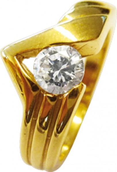 Luxuriöser Ring in Größe 17,5 mm aus ...