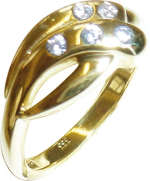 Glamouröser Ring aus feinem Gelbgold 33...