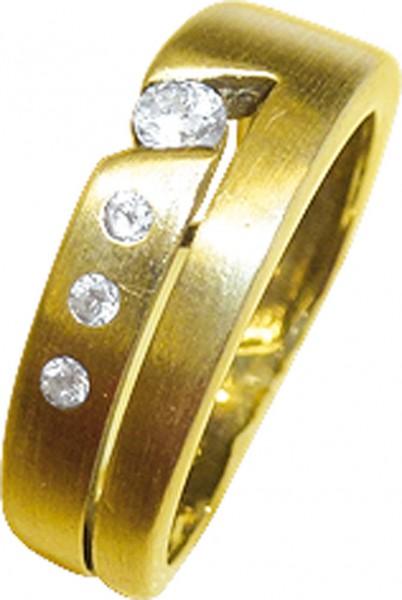 zauberhafter Ring in Gelbgold 333/- verz...