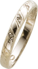 Ring feinem Weissgold 333/- Größe 18,3mm leicht änderbar, 3  Brillanten 0,02ct W/P