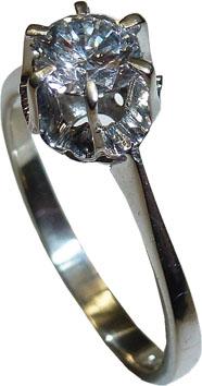 exklusiver Ring in hochwertigem hochglanzpoliertem Weissgold 585/- Grösse 17,2mm diese wird aber ihrer gewünschten Größe angepasst, mit einem atemberaubenden strahlenden Brillanten 0,49ct R/VVS der Brillant hat einen sehr guten Schliff,  von hoher Goldsc
