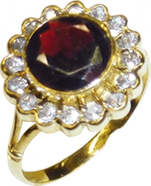 Ring in Geldgold 333/- mit einem echten ...