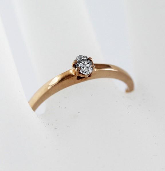 Solitär Ring Verlobungsring Rosegold 58...