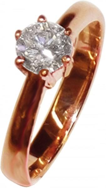 feiner Rosegold Ring 585/-mit einem fein...