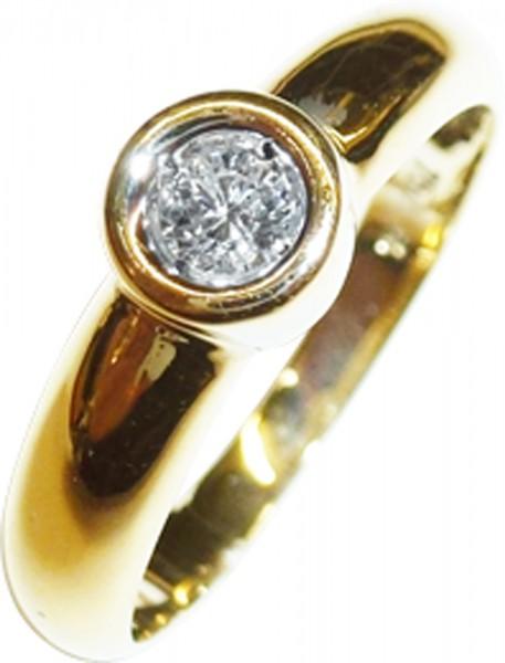 Ring in feinstem Gelbgold 750/-, poliert...