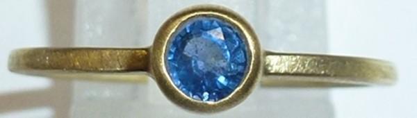 Ring in feinem Gelbgold 750/- mit 1 leuc...