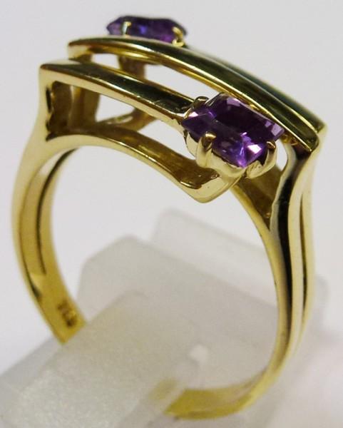 Glamouröser Ring in Gelbgold 750/-, die...