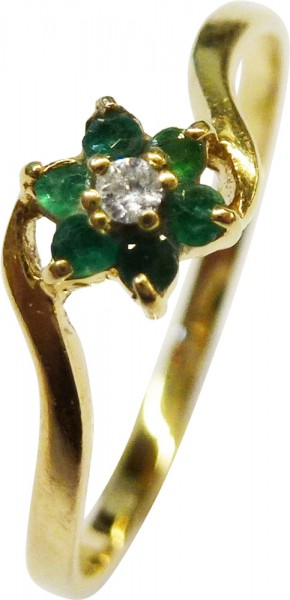 Traumhafter Ring in Gelbgold 750/-, dies...