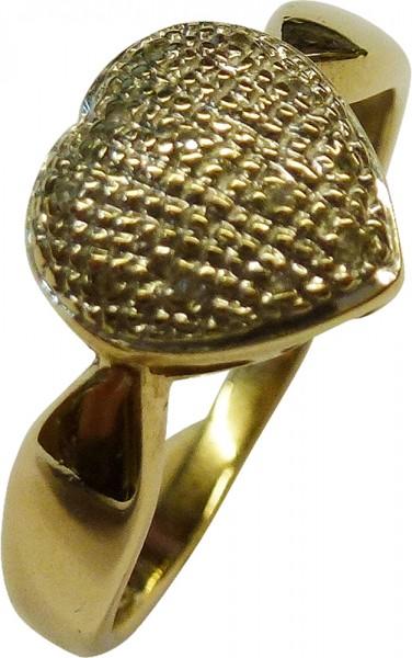 Märchenhafter Ring in Gelbgold 585/-. D...