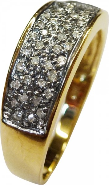 Traumhafter Ring in Gelbgold 585/-, poli...