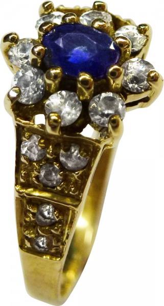 Wunderschöner Ring in Gelbgold 333/-, A...
