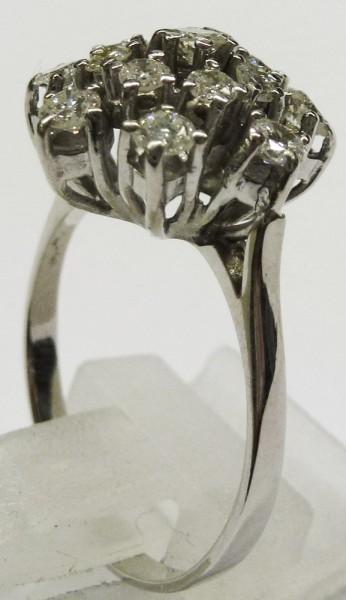 Feiner Ring in hochwertigem Weißgold 58...