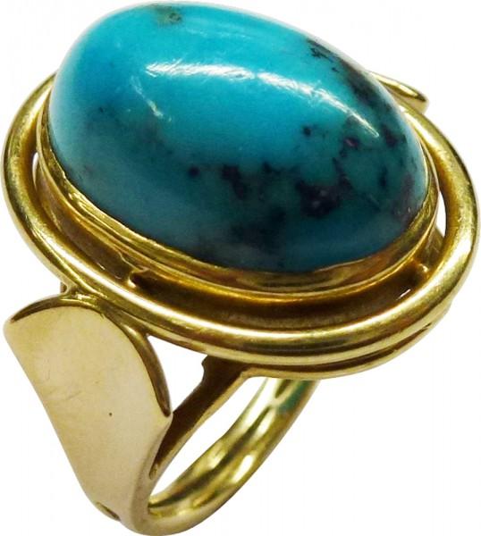Ring in Gelbgold 585/- mit einem echten ...