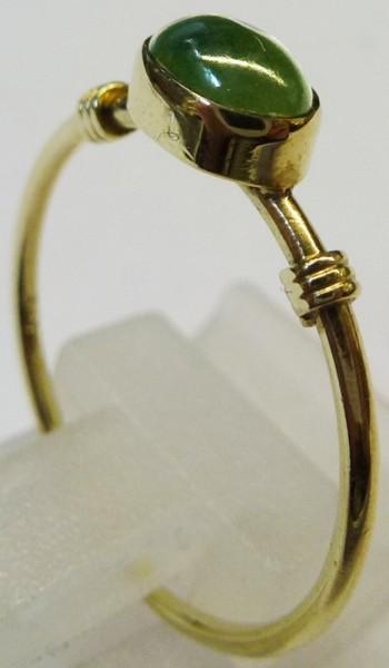 Smaragd Cabochon Ring Gelbgold 333/-  18,5 mm