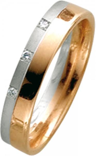 Ring in Rosegold 585/- mit Weißgold 585...