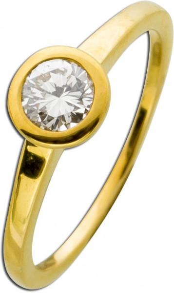 Diamantring Solitär Ring Verlobungsring...