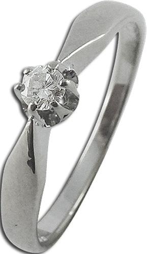 Ring in weissgold 585 mit Brillant, 16mm