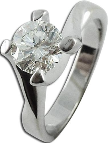 Ring in weissgold 750 mit Brillant, 16mm