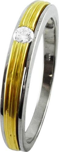 Goldring Gelbgold Weißgold 585 Brillant...