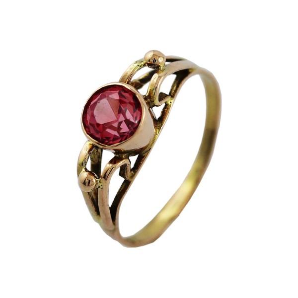 Edelsteinring – Goldring Gelbgold 333 Saphir