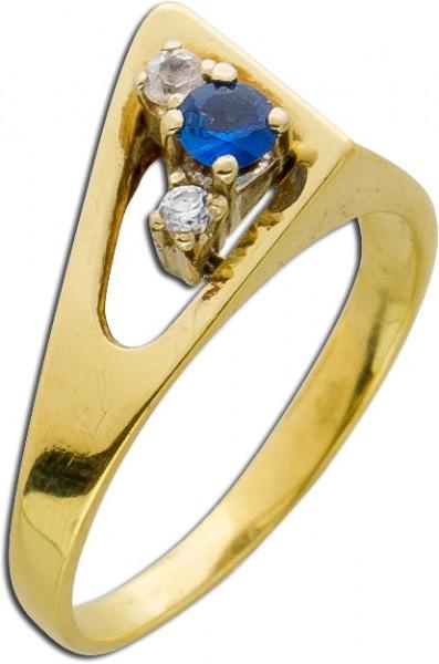 Ring Antik avantgardistisch Gelbgold 585...
