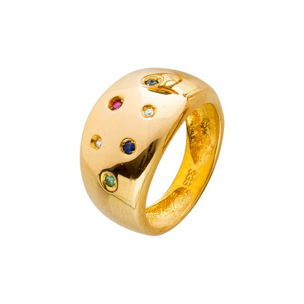 Ring – Goldring Gelbgold 333 Rubin...