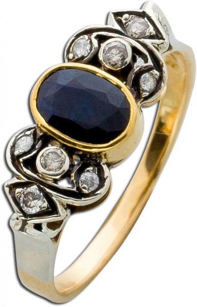 Ring – Goldring Antik Gelbgold  We...