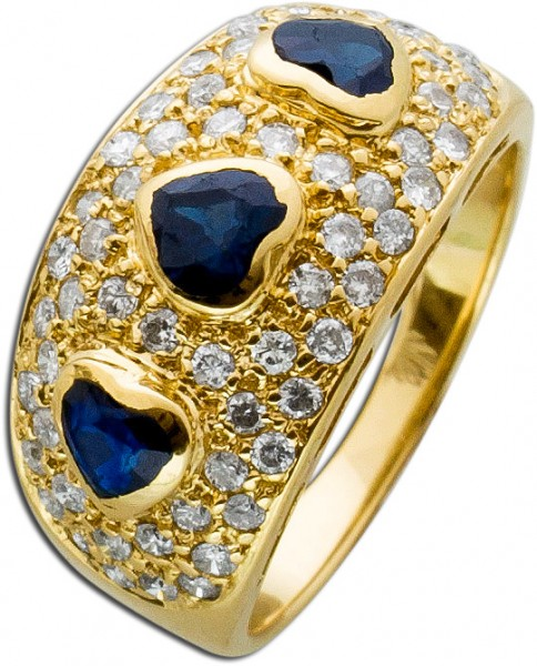 Ring – Brillantring Antik Gelbgold...