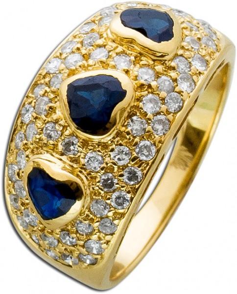 Ring – Brillantring Antik Gelbgold...