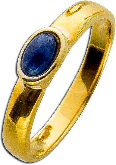 Ring Gelbgold 333 Saphir Cabochon