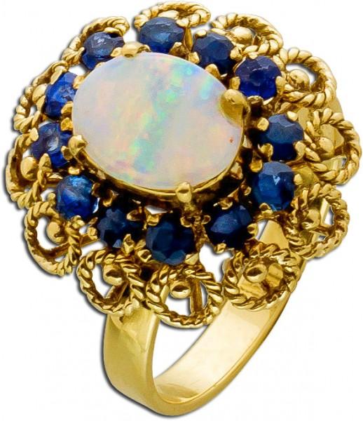 Goldring – Edelsteinring Antik Gel...