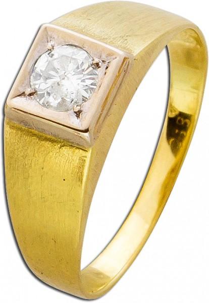 Massiver Diamantring Brillantschliff Gel...